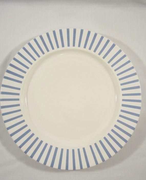 Horchow Patricia Stoneware Blue Stripe Chop Plate