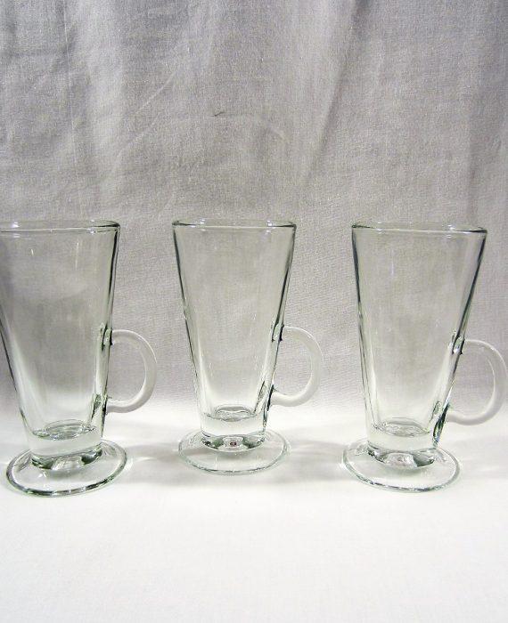 Libbey 5293 Catalina Clear Glass 3 Irish Coffee Mugs