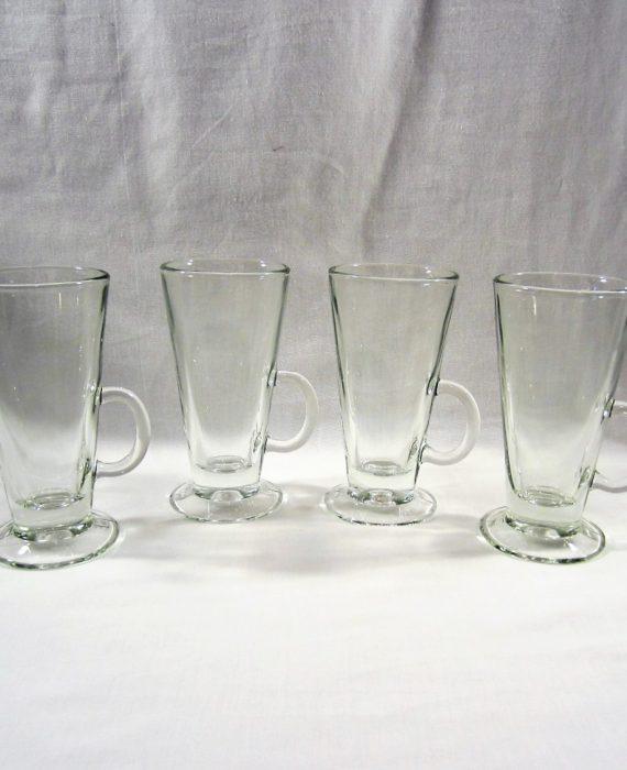 Libbey 5293 Catalina Pier 1 Clear Glass 4 Irish Coffee Mugs