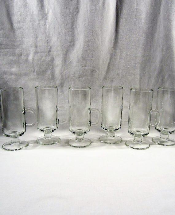 Libbey 5292 Tall Clear Glass 6 Irish Coffee Mugs