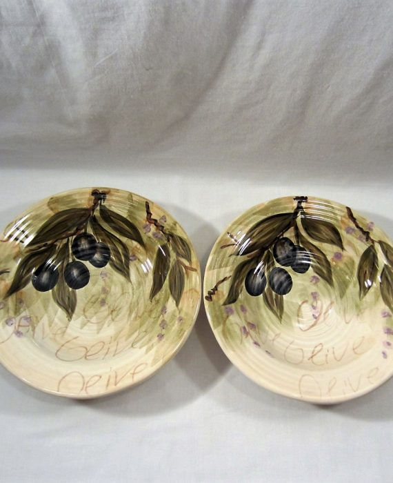 Olive Grove Tabletops Unlimited Large Rim Soup Bowls