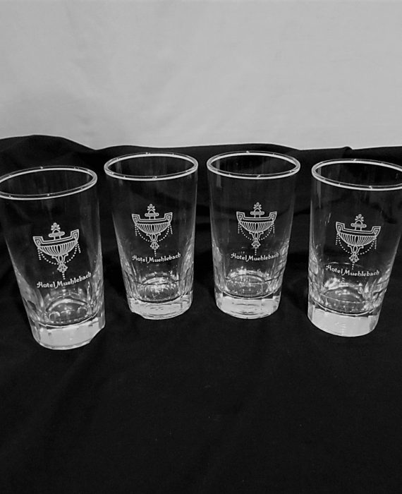 Hotel Muehlebach Kansas City, Missouri Glass Set