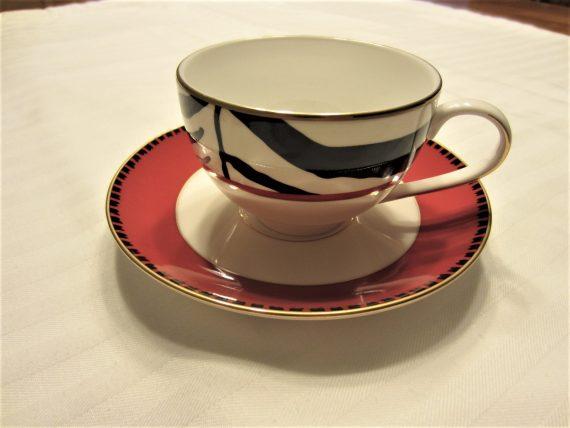 Lenox USA Scalamandre Zebra Cup & Saucer Set