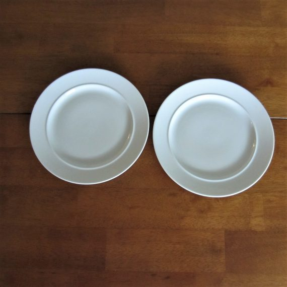 Dansk Café Blanc White Salad Plates