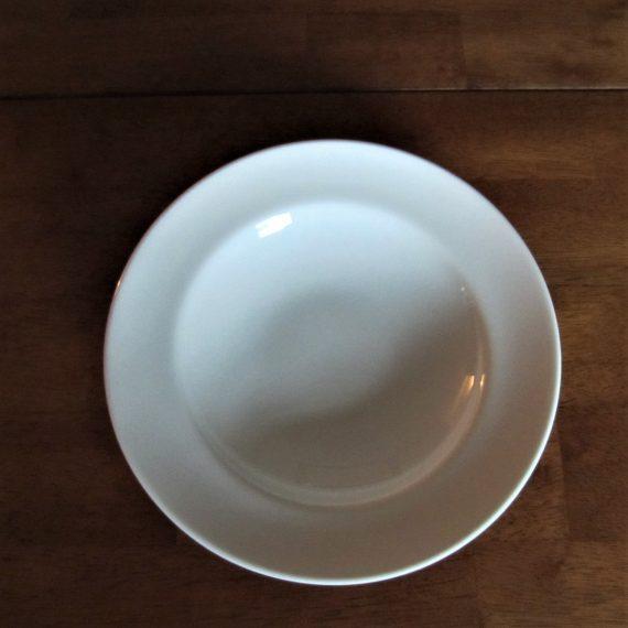 Steelite Vogue 9001C363 White 9 3/8 inch Rimmed Salad Bowl