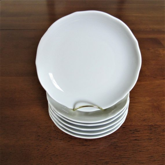 Hutschenreuther Scalloped Coupe White Bread Plates